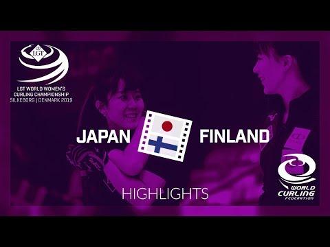 HIGHLIGHTS: Japan v Finland - round robin - LGT World Women's Curling Championship 2019