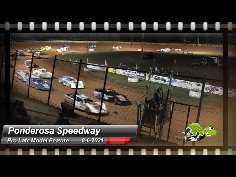 Ponderosa Speedway - Pro Late Model Feature - 8/6/2021 - dirt track racing video image
