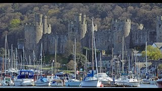 Conwy North Wales UK Quayside And Smallest House Travel Footage Video