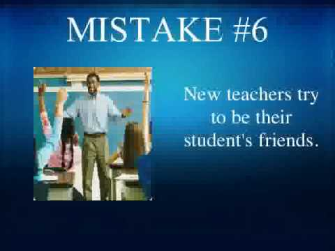 Mistakes New Teachers Make
