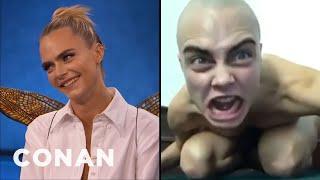 Cara Delevingne's Spot-On Gollum Impression - CONAN on TBS