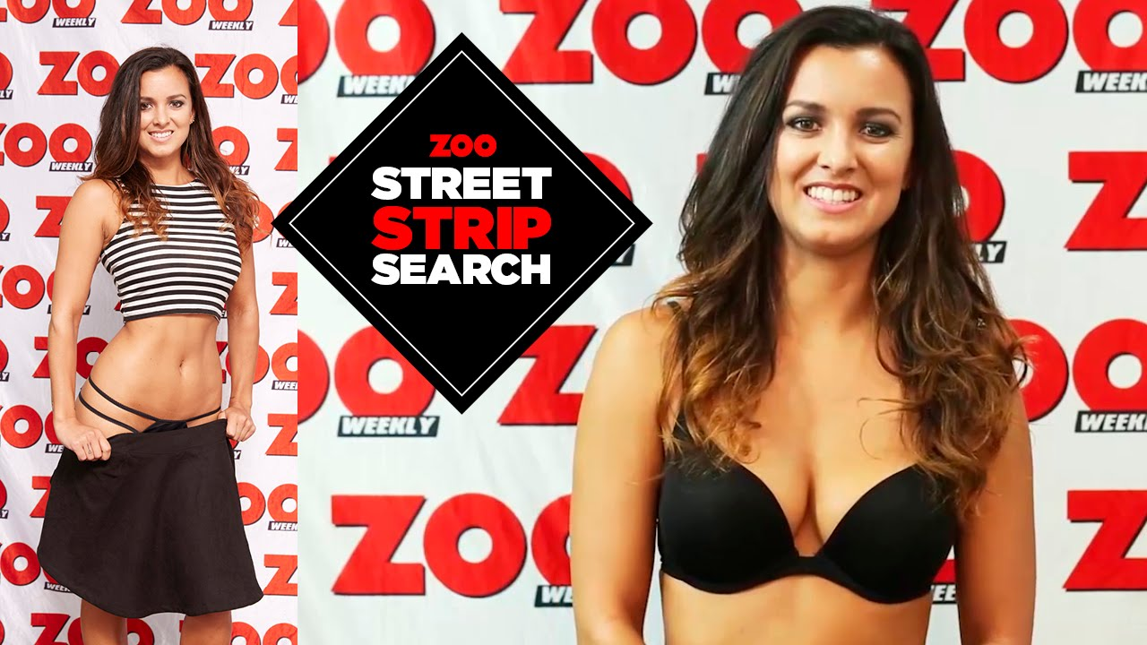 25 year old Kiwi, Loaan shows off her incredible curves in ZOO's Street Strip Search HD