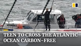 Teenage climate activist Greta Thunberg sets sail on emission-free journey from Europe to New York