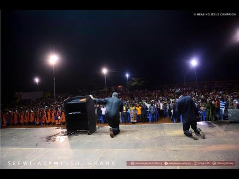 WATCH THE HEALING JESUS CAMPAIGN, LIVE FROM SEFWI ASAWINSO - GHANA, DAY 3.