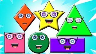 песня формы | выучить названия фигур | форма для детей | учебное видео | Shape Song