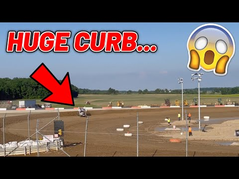 Tanner Holmes Qualifying (HUGE CURB) At Attica Raceway Park! (OHIO Speedweek) - dirt track racing video image