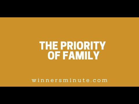 The Priority of Family // The Winner's Minute With Mac Hammond
