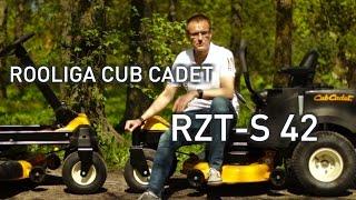 0-pöörderaadiusega rooliga Cub Cadet niiduk RZT-S