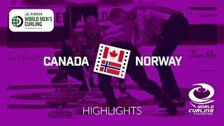 HIGHLIGHTS: Canada v Norway - round robin - Pioneer Hi-Bred World Men's Curling Championship 2019