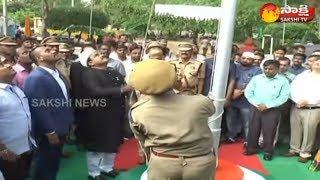 Deputy CM Amzath Basha Flag Hoisting   73rd Independence Day Celebrations   Sakshi TV