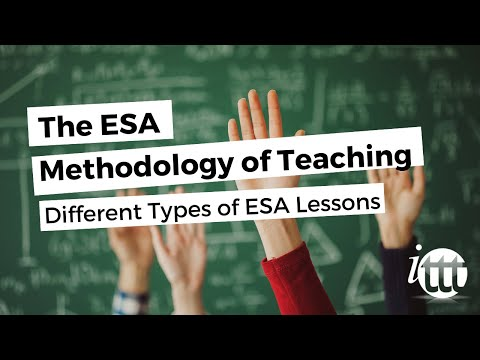 The ESA Methodology of Teaching - Types of ESA Lessons