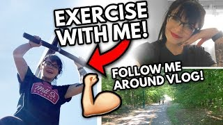 HOW I WORK OUT WITHOUT A GYM, my NEW hair 😱, & Halloween decor haul!   WEEKLY VLOG