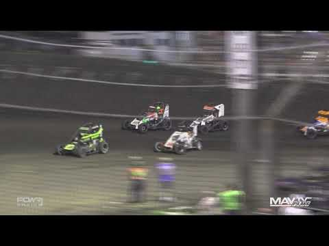 National Midget League at Macon Speedway - 6/19/2021 - dirt track racing video image
