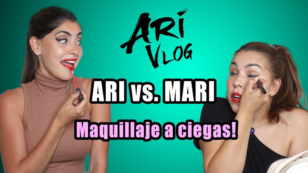 Ari vs. Mary: Maquillaje a ciegas! – Ari Vlog