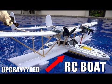 FLYING Walmart RC boat MODS!!! - UC7yF9tV4xWEMZkel7q8La_w