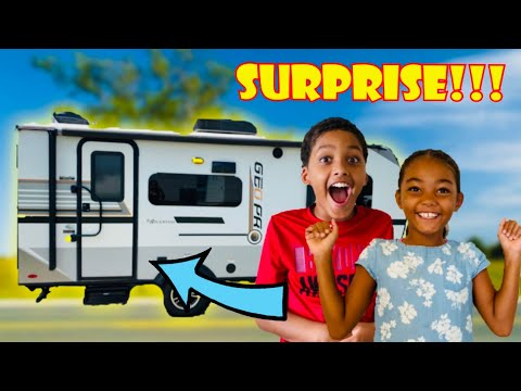 WE SURPRISED THE KIDS WITH AN RV !!! Rockwood Geo Pro RV