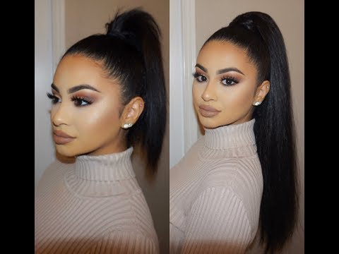SLICK BACK PONY TAIL USING CLIP-IN HAIR EXTENSIONS | MAKEUPSOLEIL - UCXe3a69tJKAAHA-1Z1Hhkhw