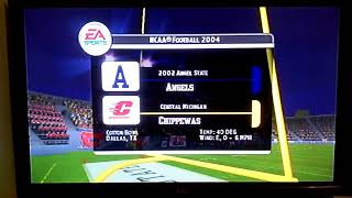 NCAA Football 2004 Is 2002 Angel State Angels And Central Michigan Chippewas Intro