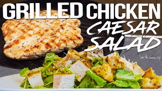 Grilled Chicken Caesar Salad for Date Night | SAM THE COOKING GUY 4K
