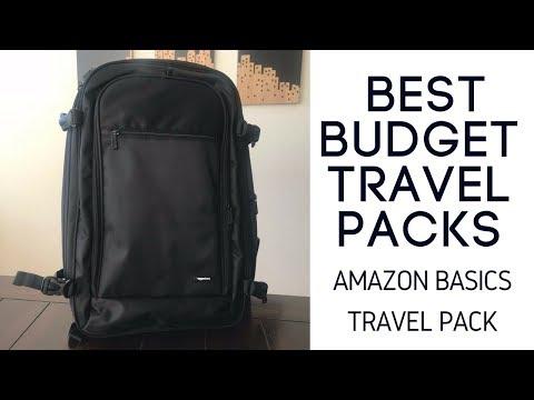 Best Budget Travel Packs: Amazon Basics Carry-On Travel Backpack