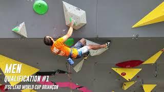 Qualifications mens - IFSC Climbing world cup - lead - Briançon 2019