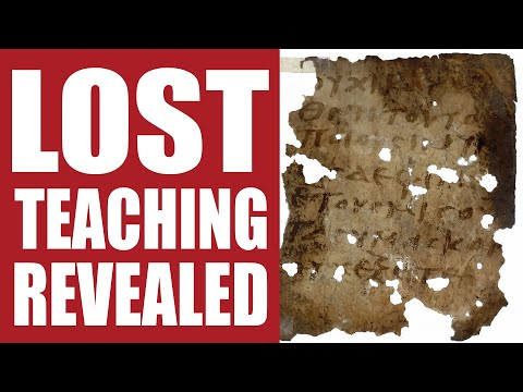 Lost Teaching of the First Apostles Revealed