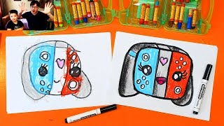 How To Draw Kawaii Nintendo Switch gamepad - Fun Challenge