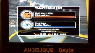 NCAA Football 2005 is 22nd March 2000 All Americans and Kent State Golden Flashes Funeral Home Intro