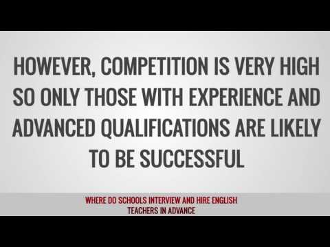 video on where schools interview and hire TEFL teachers in advance