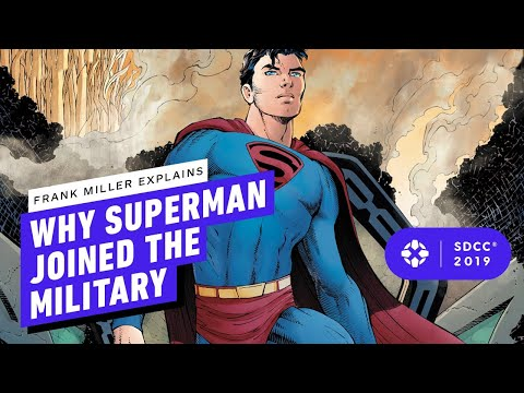 Superman Year 1: Frank Miller Explains Why Superman Had to Join The Military - Comic Con 2019 - UCKy1dAqELo0zrOtPkf0eTMw