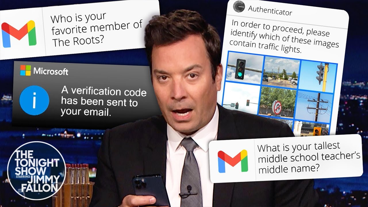Jimmy Tries to Log In to His Microsoft Account | The Tonight Show Starring Jimmy Fallon
