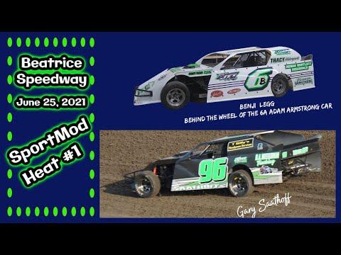 06/25/2021 Beatrice Speedway SportMod Heat #1 - dirt track racing video image