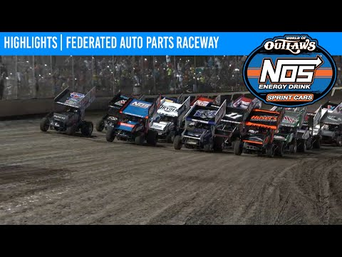 World of Outlaws NOS Energy Drink Sprint Cars Federated Auto Parts Raceway, Aug 7, 2021   HIGHLIGHTS - dirt track racing video image