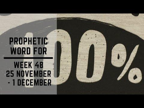 Prophetic Word for this Week   25 November 2019