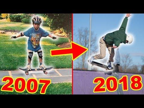 10+ YEARS OF SKATEBOARDING PROGRESSION.