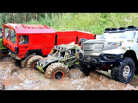 RC Cars Mudding OFF Road — MAN KAT1 RC4WD Beast 6x6, Axail SCX10, WLtoys 10428 — RC Extreme Pictures - UCOZmnFyVdO8MbvUpjcOudCg
