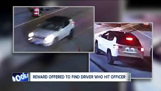 Crimestoppers offering $5,000 reward for information about driver who struck Cleveland officer