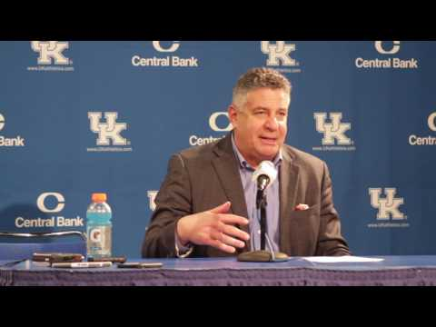 Bruce Pearl talks about Auburn's loss to Kentucky, 92 to 72.
