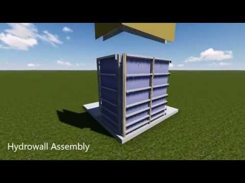 Hydrowall Modular Wall Systems For Rainwater Tanks, Garages, Fences