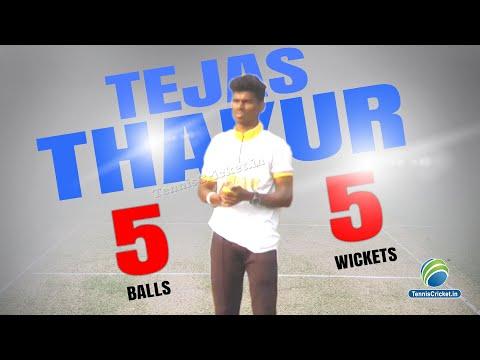Tejas Thakur takes 5 wickets in 5 balls   Adarsh Chashak 2019 - Padlegaon Dombivali