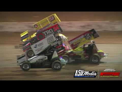 Sprintcars: Capalaba Wreckers Cup - A-Main - Archerfield Speedway - 04.01.2012 - dirt track racing video image