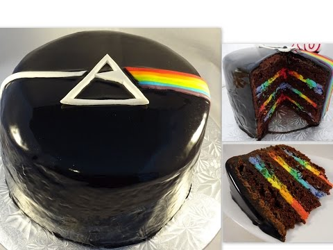 Pink Floyd Cake with Mirror Glaze and Rainbow Inside!- with yoyomax12 - UCQo1BANqbQeBKJbw8_ob3UA