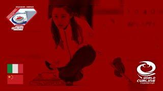 Italy v China - round robin - World Mixed Doubles Curling Championship 2019