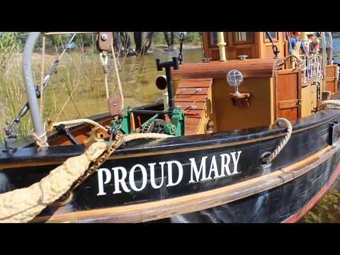 1:16 Model Slipway Tamar Class Lifeboat RC boat speed runs