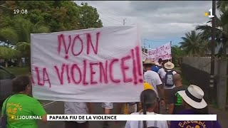 Papara : marche contre la violence