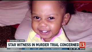 Murder trial's star witness is concerned