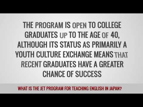 video about the JET program for TEFL teachers in Japan