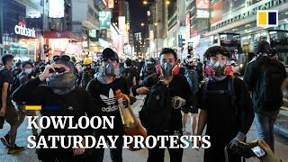 Hong Kong's Kowloon side rocked by more anti-government protests