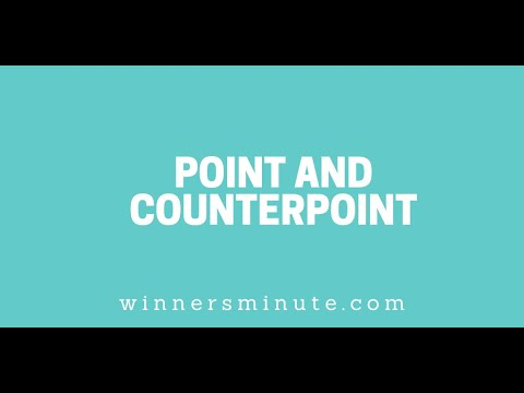 Point and Counterpoint // The Winner's Minute With Mac Hammond