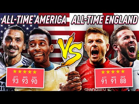 ALL-TIME AMERICAN LEAGUES VS ALL-TIME ENGLISH LEAGUES - FIFA 20 EXPERIMENT